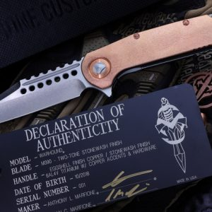 Buy Microtech Custom | Marfione Warhound Folder Egg Shell Copper Stonewash #1