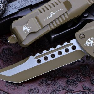 Buy Microtech Combat Troodon OTF Automatic Cerakote Dark Earth 3.8″ Hellhound Tanto 219-1CDE