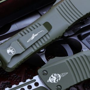 Buy Microtech Combat Troodon OTF Automatic Knife | Hellhound Tanto 219-1COD