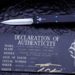 Buy Marfione Custom UTX-70 OTF Automatic Blue Accents 2.4″ Dagger Hand Rubbed, Satin