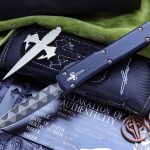 Buy Microtech Custom/Marfione Ultratech OTF Copper Ringed D/E 3.4″ Ladder Damascus