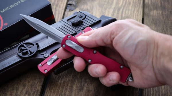 Microtech Dirac Red OTF Automatic Knife