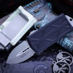 Buy Microtech Exocet Blue Money Clip OTF Knife Cali Legal 1.9″ Black 157-1BL