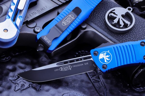 Buy Microtech Troodon OTF Automatic Knife Blue S/E 3 online