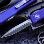 Buy Microtech UTX-70 OTF Automatic Knife Purple 2.4″ D/E Satin 147-4PU
