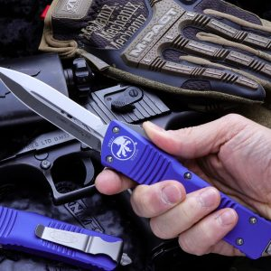 Buy Microtech Combat Troodon OTF Automatic Knife Purple | Satin Dagger 142-4PU